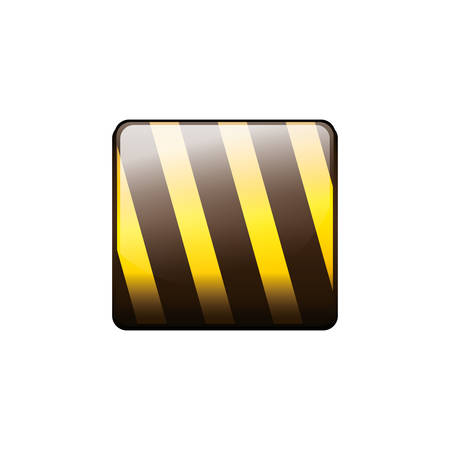 road construction: Barrier road sign icon. Under construction work repair and progress theme. Isolated design. Vector illustration Illustration