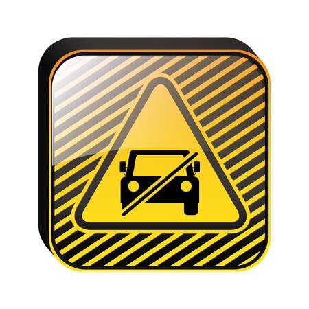 triangle shape no parking traffic sign vector illustration Illustration