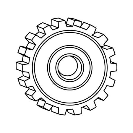 silhouette of gear wheel icon vector illustration