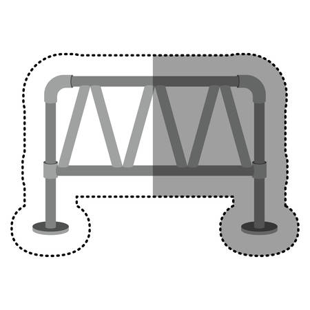 metallic: dotted sticker metallic structure of road sign vector illustration