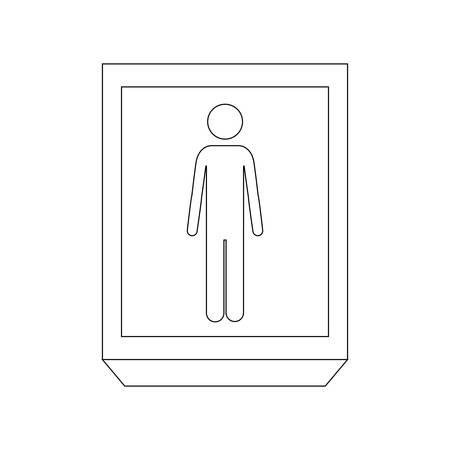 silhouette contour: silhouette rectangle contour person silhouette vector illustration