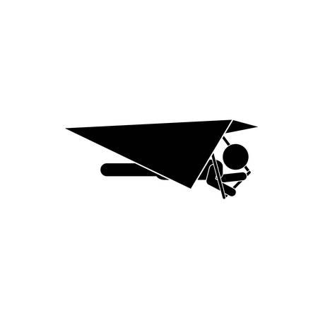 Deltaplano estremo sport icona illustrazione vettoriale progettazione grafica
