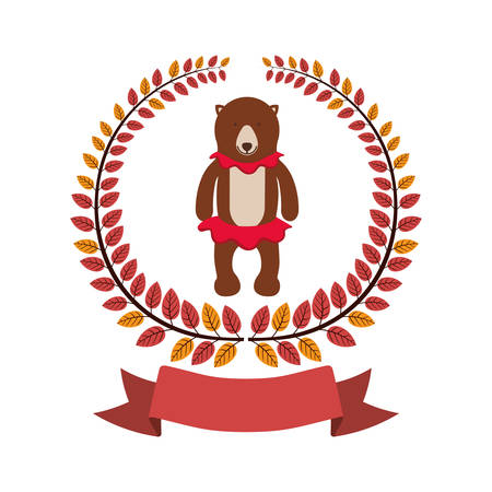 Circus bear cartoon icon vector illustration graphic design
