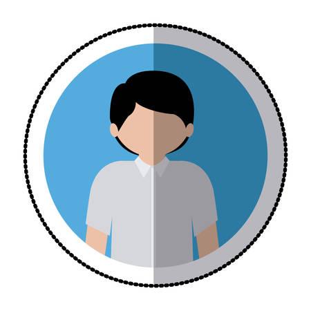 anonymus: Man profile pictogram icon vector illustration graphic design Illustration