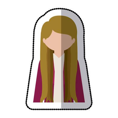 blondie: Woman profile pictogram icon vector illustration graphic design