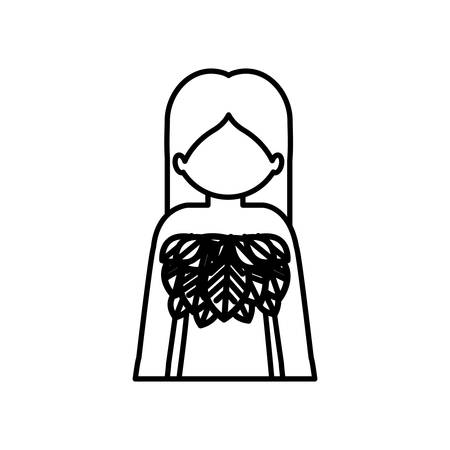 anonymus: Woman profile pictogram icon vector illustration graphic design