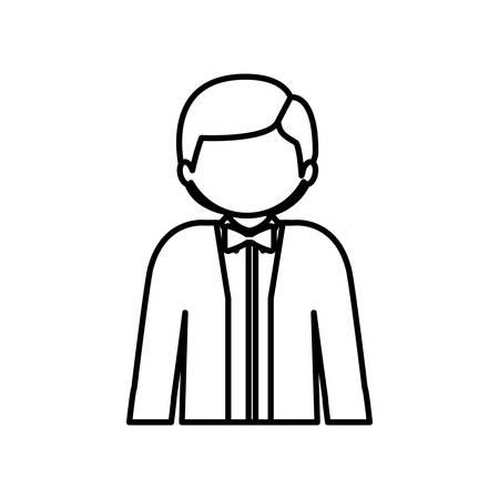 Man profile pictogram icon vector illustration graphic design Illustration