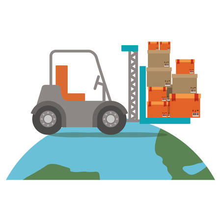 transit: Delivery and logistic icon vector illustraton graphic design Illustration