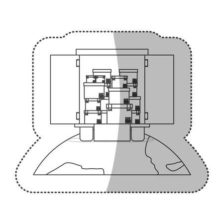 Delivery and logistic icon vector illustraton graphic design Illustration