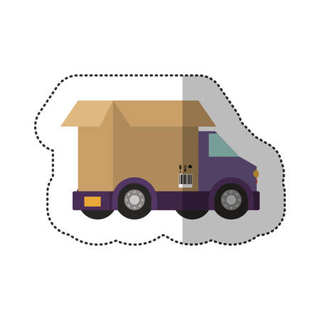 Delivery and logistic icon vector illustraton graphic design Illustration