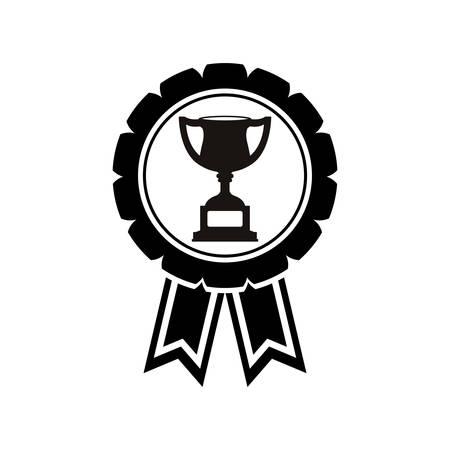triumphant: Cup trophy championship icon vector illustration graphic
