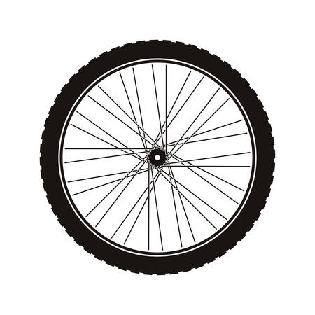 dirt bike: Bike wheel tire icon vector illustration graphic Illustration