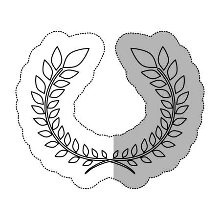 beauty contest: Wreath leaves ornament icon vector illustration graphic Illustration