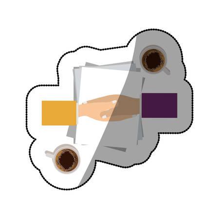 to deliver documents icon vector illustration graphic design Illustration