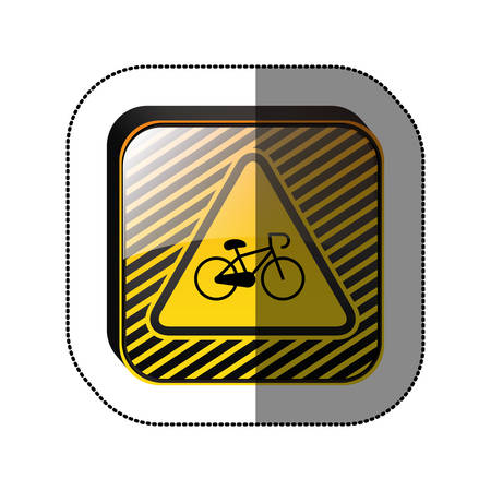 Bike symbol roadsign icon vector illustration graphic design