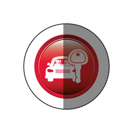 renting: Rent a car business icon vector illustration graphic design Illustration
