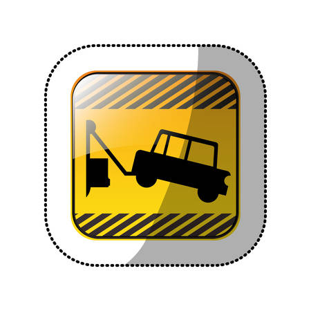Towing a car icon vector illustration graphic design