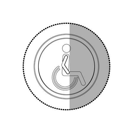 Handicap road sign icon vector illustration graphic design
