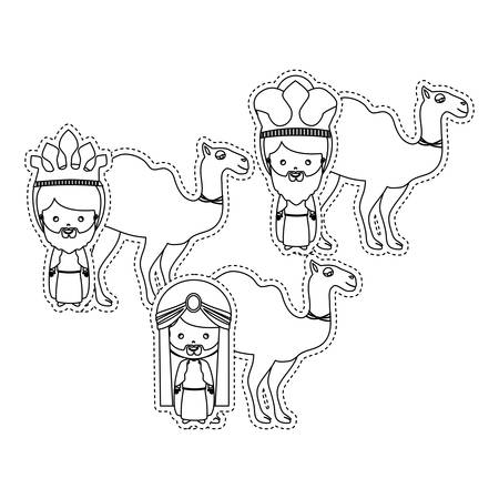 caspar: three wise men icon vector illustration graphic design Illustration
