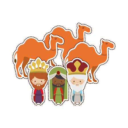 three wise men icon vector illustration graphic design Illustration