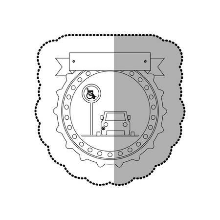 handicap sign: Handicap road sign icon vector illustration graphic design