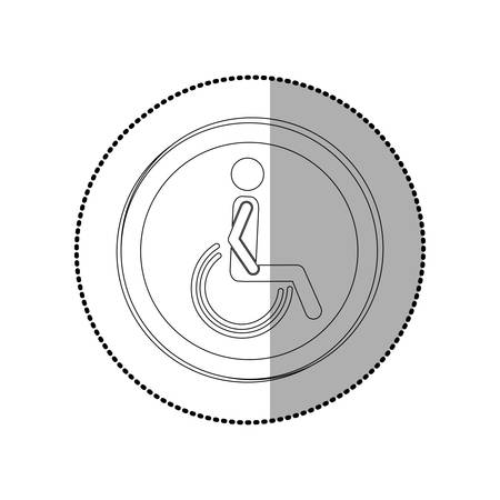 disabled access: Handicap road sign icon vector illustration graphic design