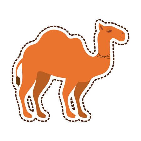 camel animal silhouette icon vector illustration graphic design