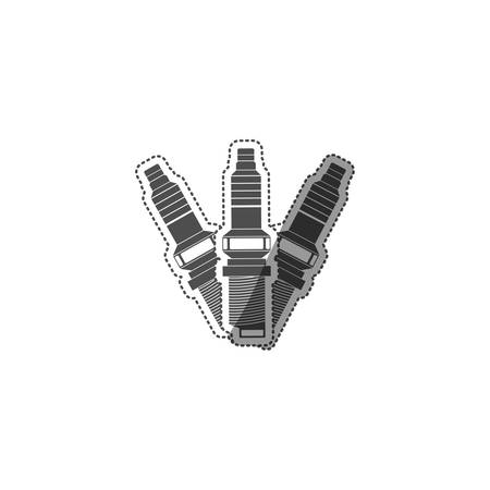 car spark plug icon vector illustration graphic