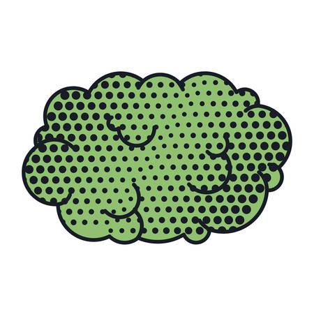cumulus cloud: cloud callout pop art for dialogue with cumulus vector illustration