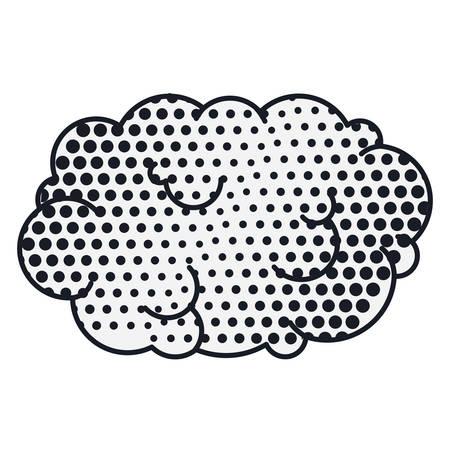 cumulus cloud: contour cloud callout pop art for dialogue with cumulus . Vector illustration