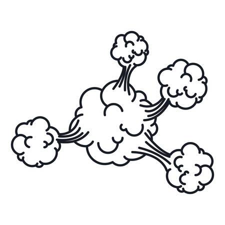 cumulus cloud: silhouette explosion steam cloud with cumulus vector illustration Illustration