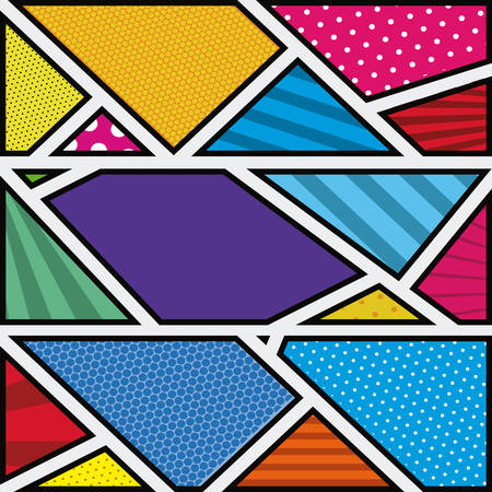 irregular shapes: background colorful abstract in pop art with shapes irregular vector illustration