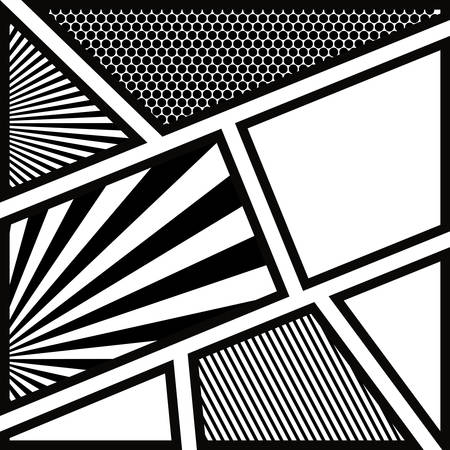 backdrop monochrome abstract in pop art vector illustration Illustration