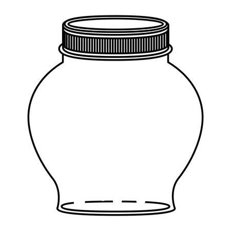 contenitore di vetro sferico sagoma con illustrazione vettoriale coperchio