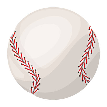 silhouette color with baseball ball with middle shadow vector illustration
