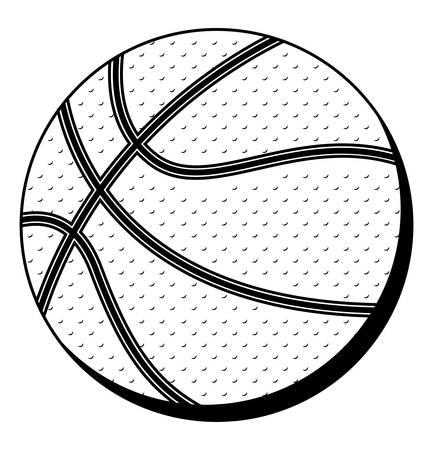 nba: black silhouette color with basketball ball vector illustration