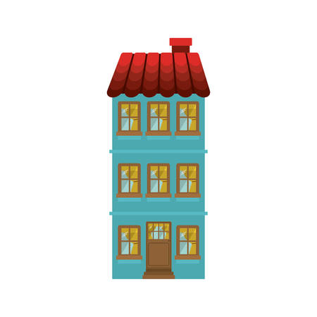 penthouse: building residence with several floors vector illustration