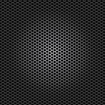 perforated: black metal dot perforated texture vector illustration Illustration