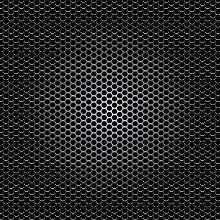 polished netting: black metal dot perforated texture vector illustration Illustration