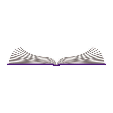 color silhouette with open book vector illustration 일러스트