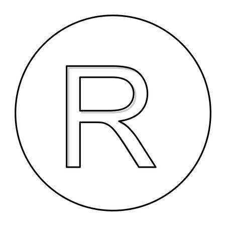 Monochrome Contour With Currency Symbol Of Rand South Africa