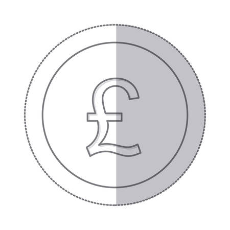 Middle Shadow Monochrome Circle With Currency Symbol Of Sterling