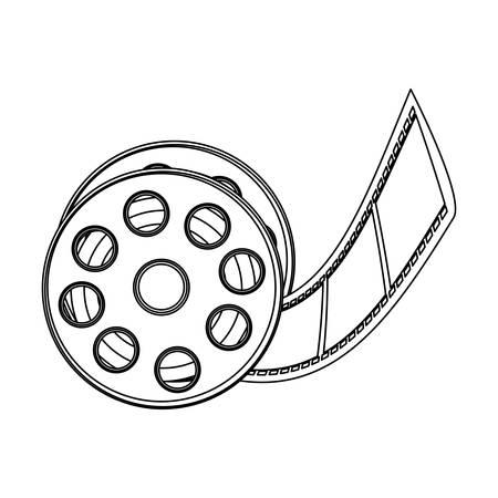 monochrome contour with cinematography movie video film tap vector illustration Illustration