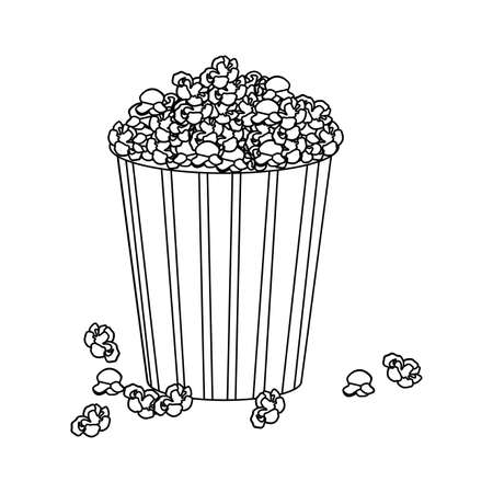 buttery: silhouette box with pop corn icon design vector illustration