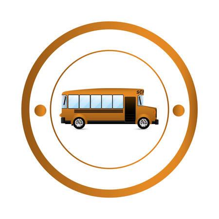schoolbus: Isolated school bus icon vector illustration graphic design