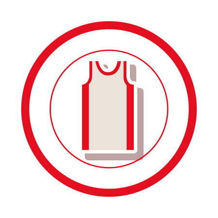 sleeveless shirt clothes icon vector illustration graphic design Illustration