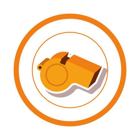 Diseño gráfico del ejemplo del vector del icono del juego del silbido del deporte Ilustración de vector