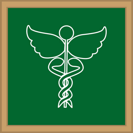 caduceus medical symbol: Caduceus medical symbol icon vector illustration graphic design