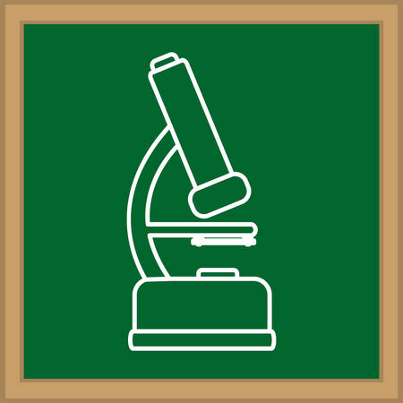 Microscope science equipment icon vector illustration graphic design