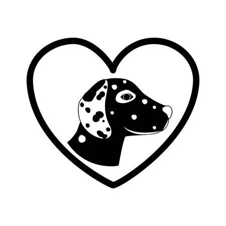 dalmatian: Cute dog pet icon vector illustration graphic design